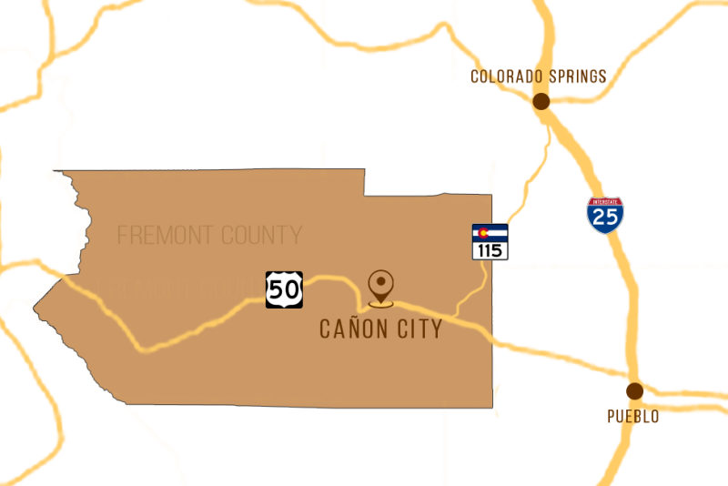Cañon City, Colorado in Fremont County